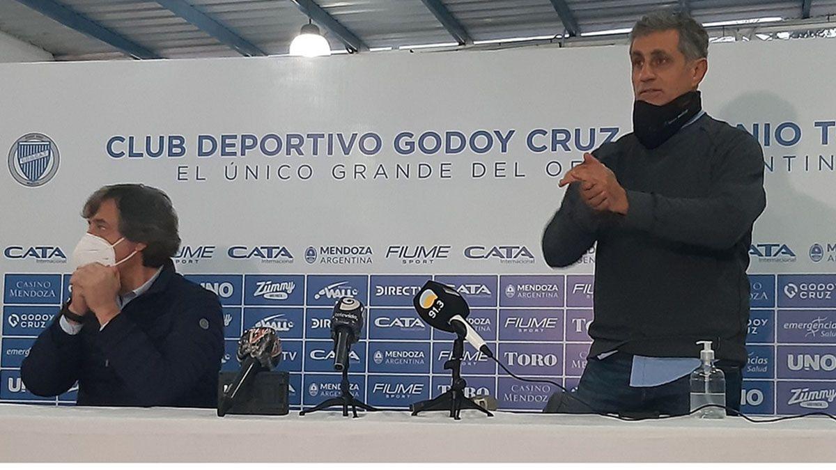 Alejandro Chapini junto al presidente José Mansur.