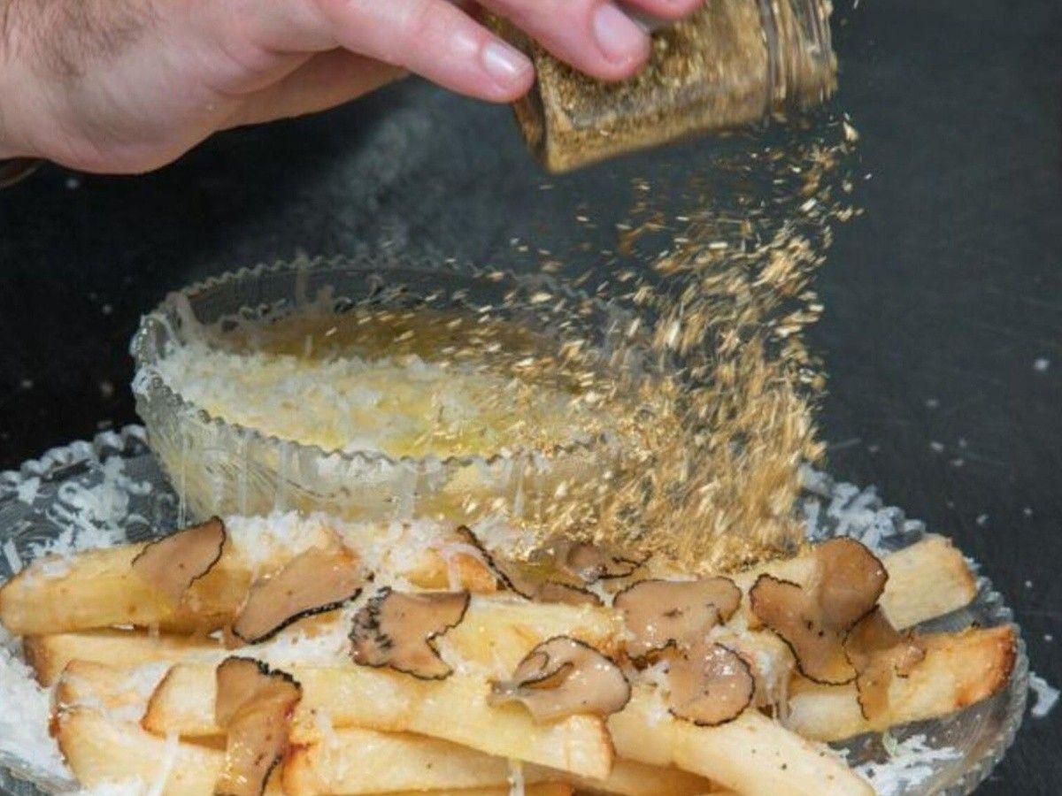 Las papas fritas más caras del mundo: ¡tienen aderezo de oro!