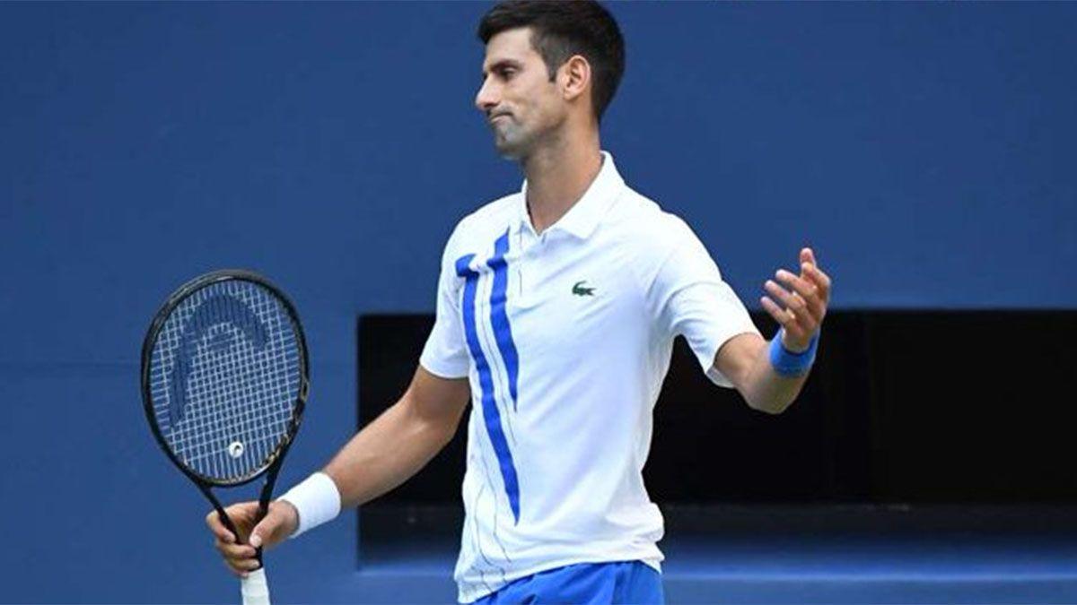 Novak Djokovic está muy mal por la descalificación en el US Open.