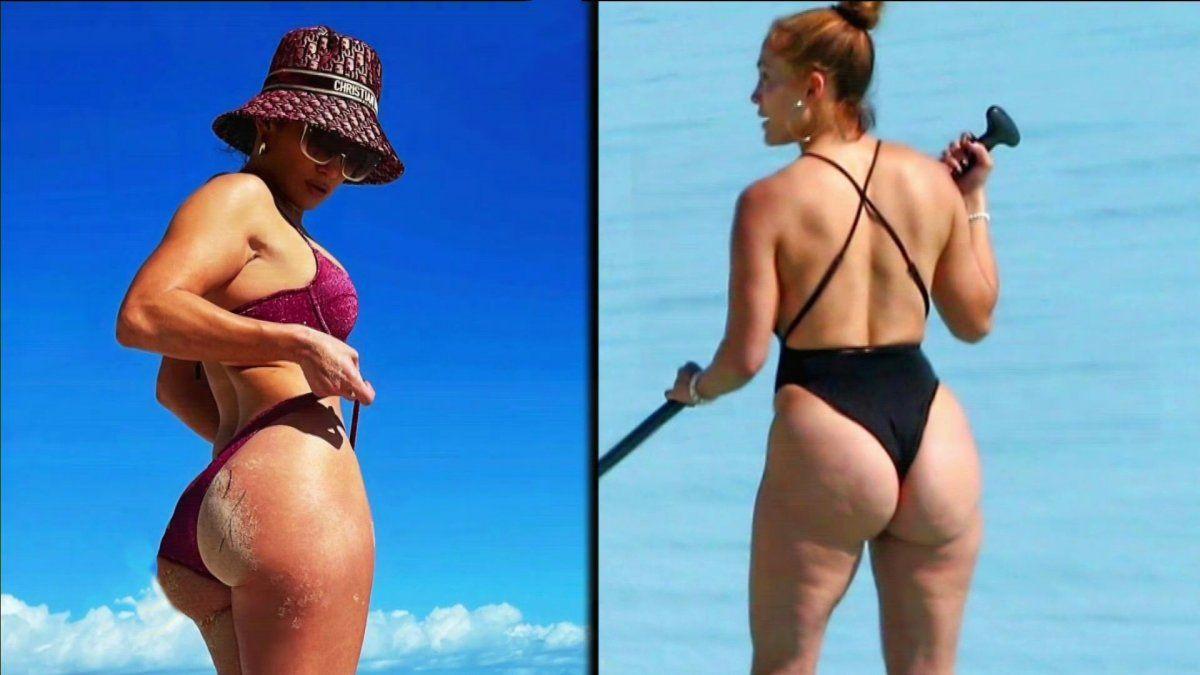 La foto de Jennifer Lopez con celulitis en la playa de la que todos están  hablando