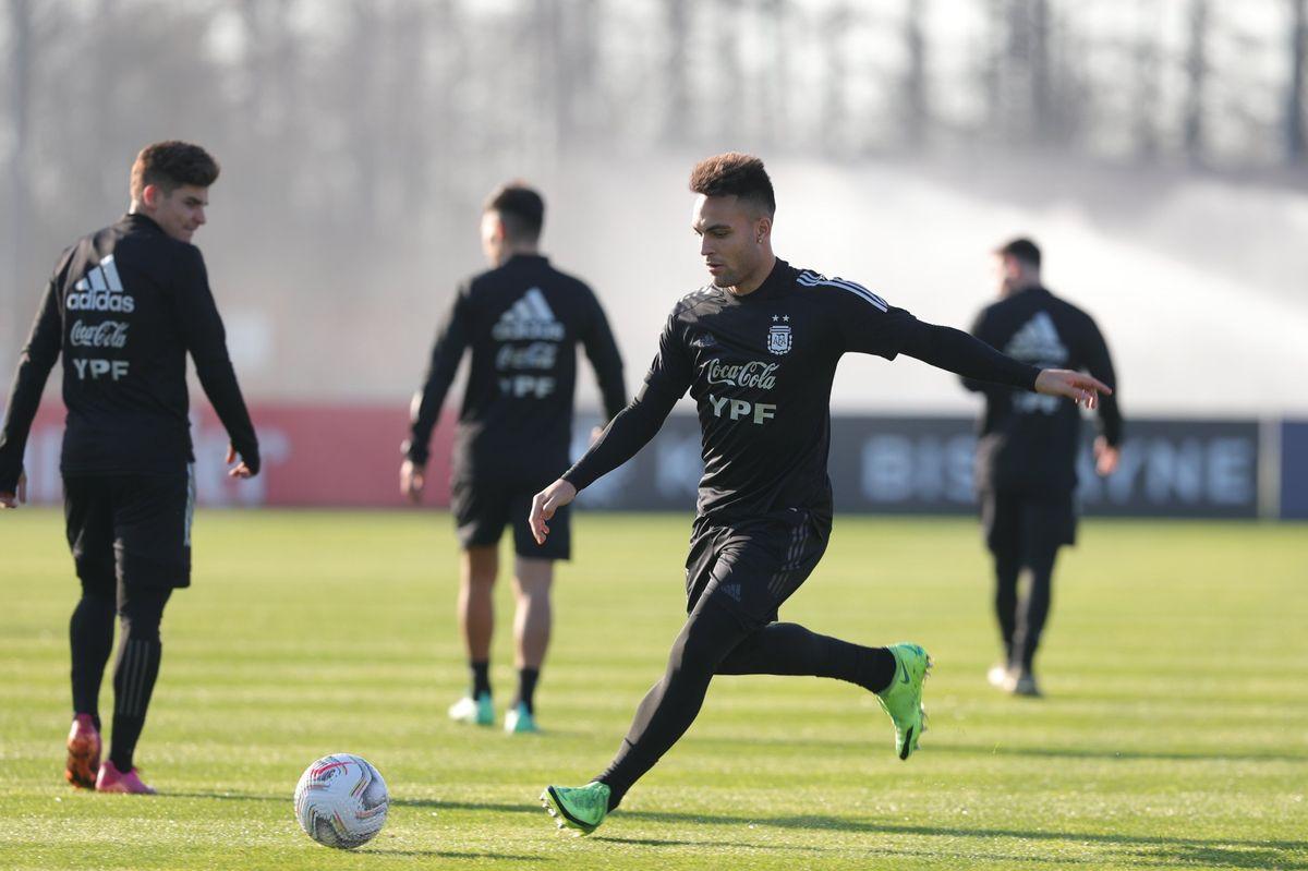Lautaro Martínez estará en el ataque de la Selección Argentina.