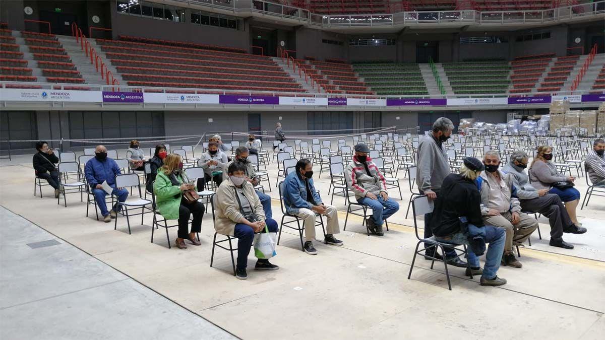 Uno de los lugares donde se realiza la vacuación es en Aconcagua Arena.