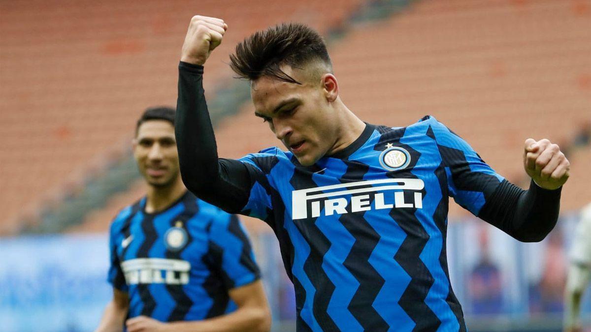Lautaro Martínez anotó un hat-trick para la goleada del Inter