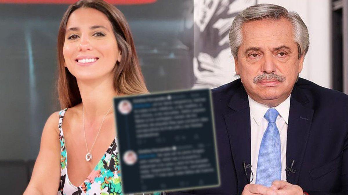 Cinthia Fernández se enojó con Alberto, luego borró los tweets, pero asegura que los denunciaron