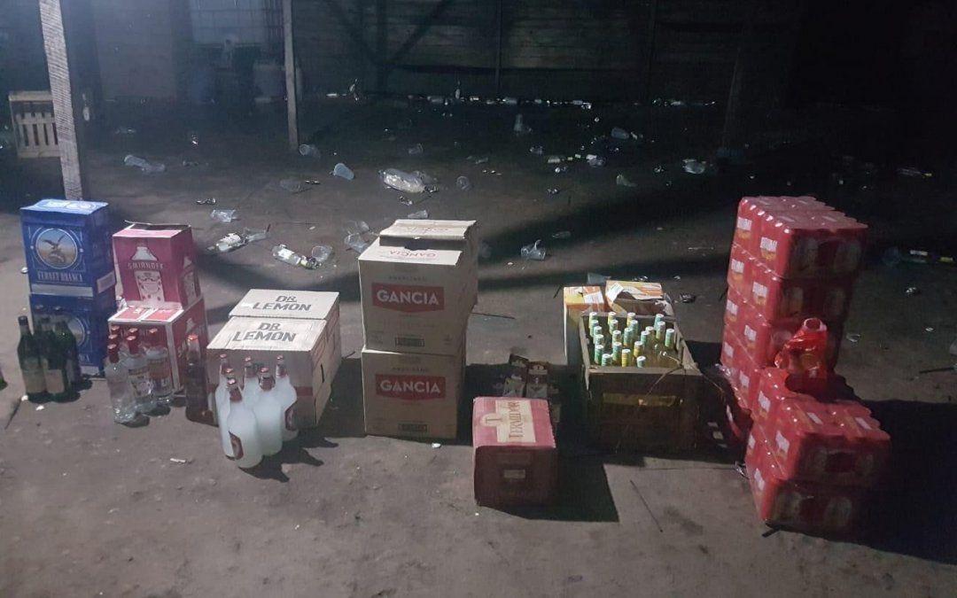 Fiesta clandestina. Un video mostró cómo quedó el lugar de la fiesta.