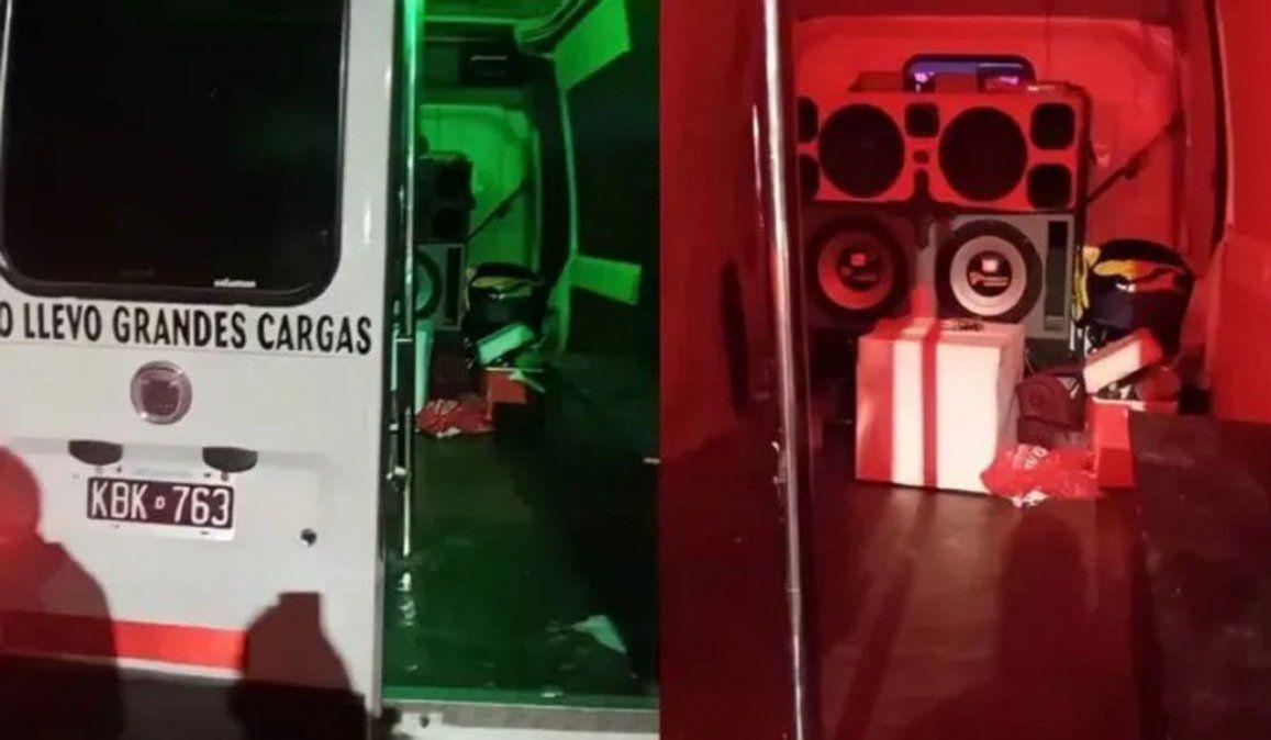 Desactivaron una descontrolada despedida de soltera en una furgoneta: ¡hasta caño tenían!