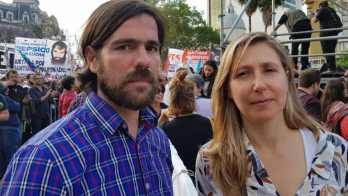 Nicolas del Caño y Myriam Bregman, del Frente de Izquierda.