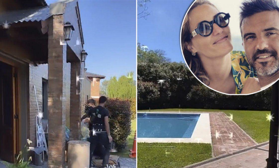 La espectacular nueva casa de Mica Viciconte y Fabián Cubero en un barrio privado