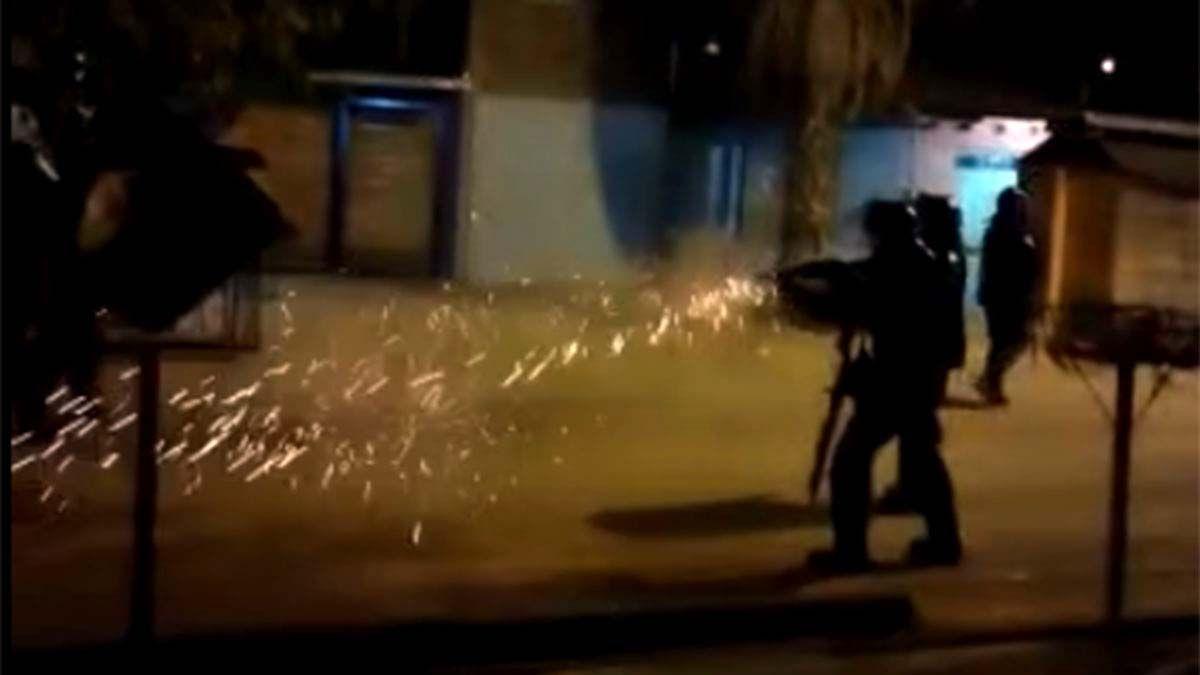 Enfrentamiento con la Policía en el barrio Santa Teresita
