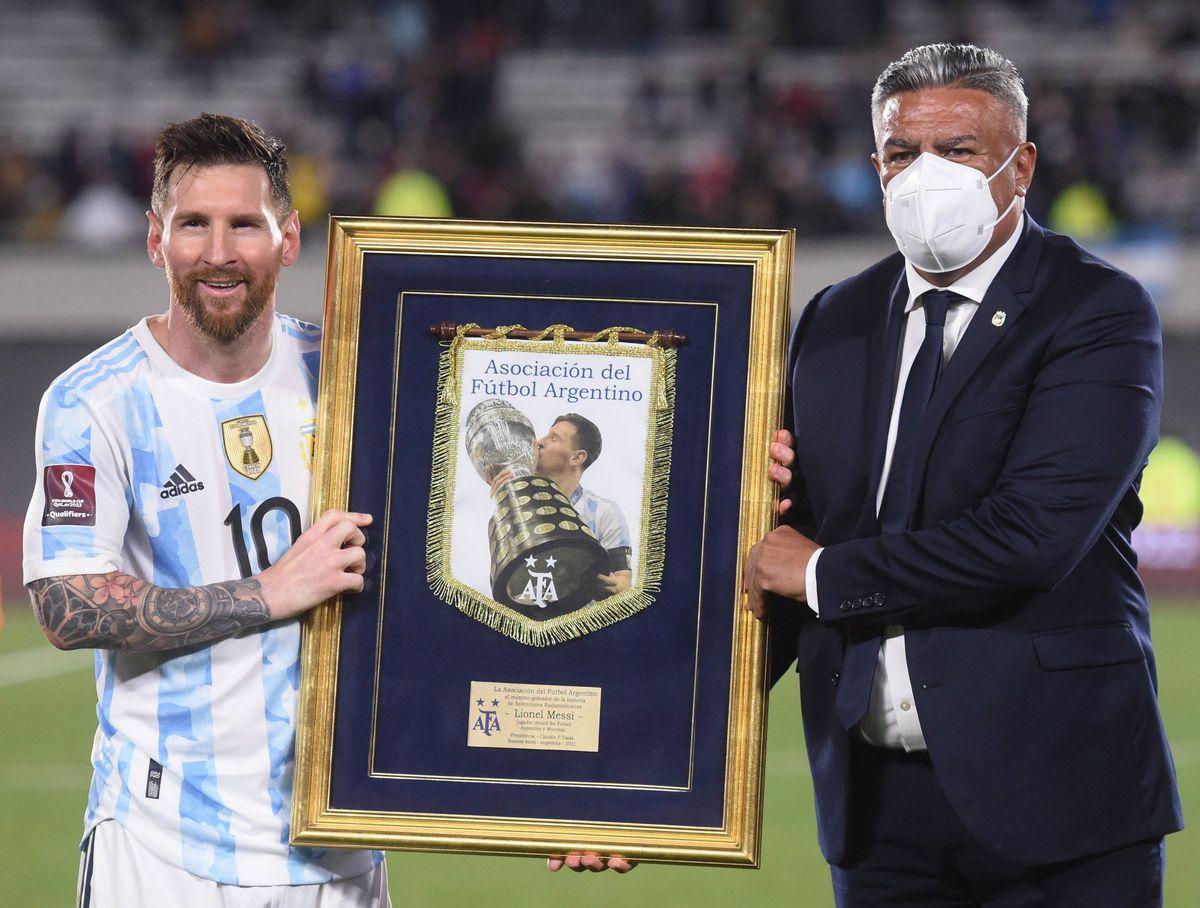 Lionel Messi fue premiado por su récord de goles con la Selección Argentina