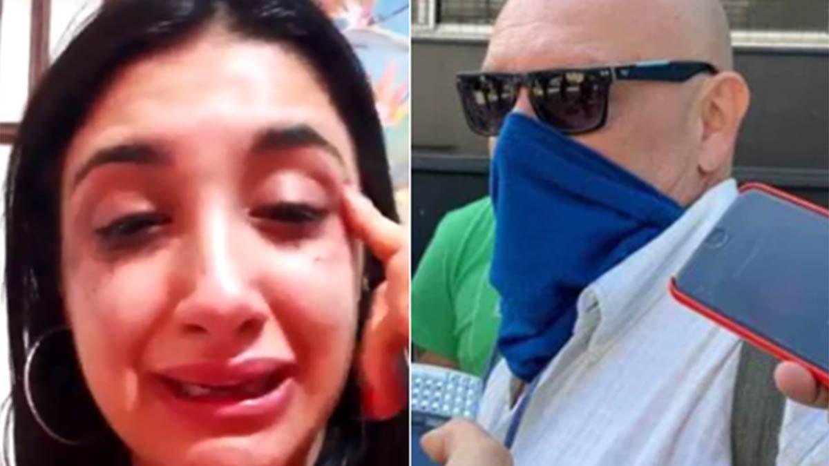Sofía y el taxista rosarino denunciado.