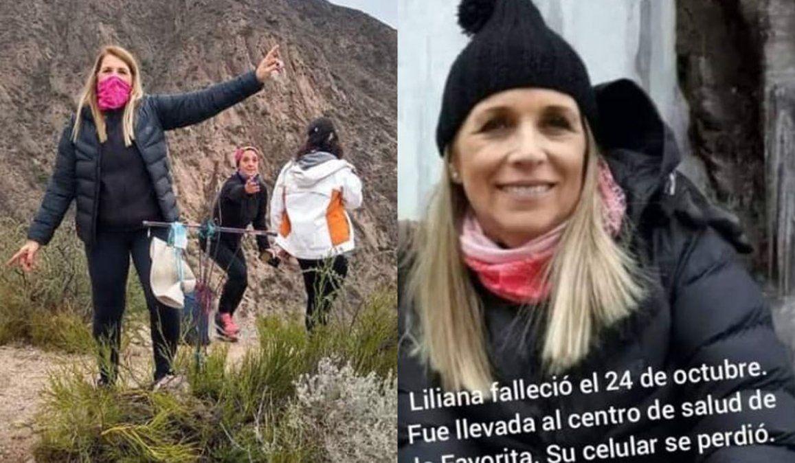 Liliana Vicario murió haciendo trekking: su familia busca su celular