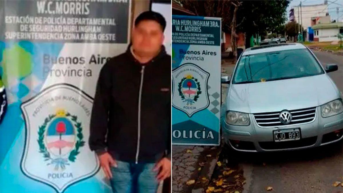 El acusado fue detenido y el auto secuestrado.