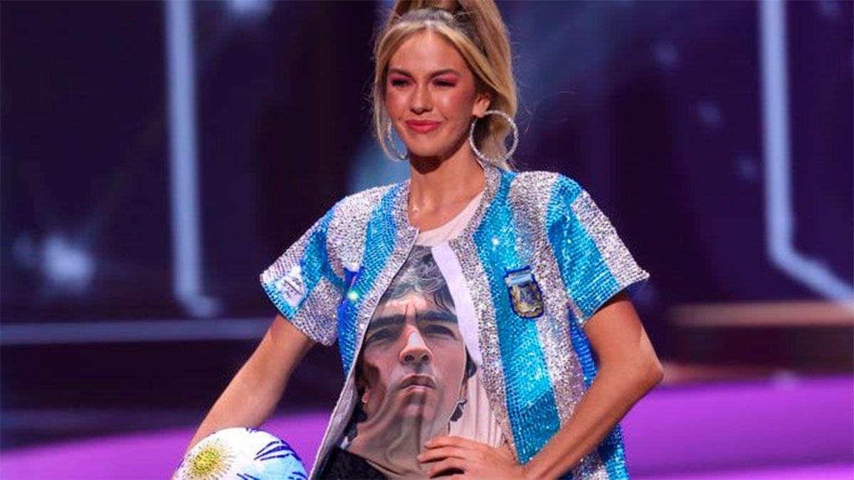 Diego Maradona fue homenajeado en Miss Universo 2021