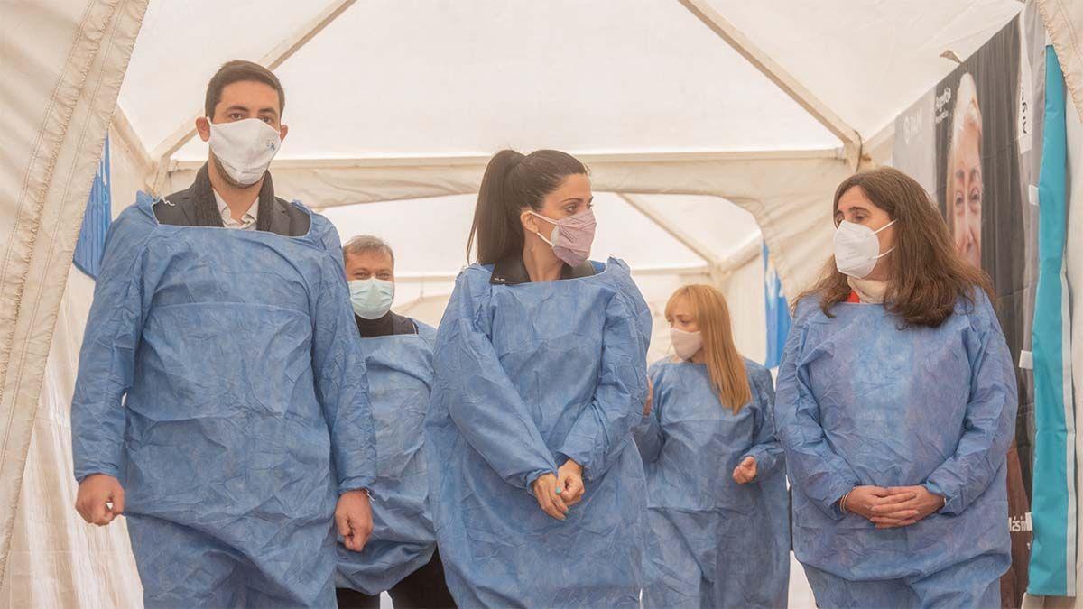En el centro de vacunación PAMI contra el Covid se inoculará a 400 personas todos los días