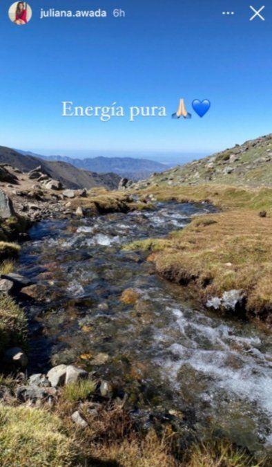 Juliana Awada está en Mendoza y lo muestra en sus redes