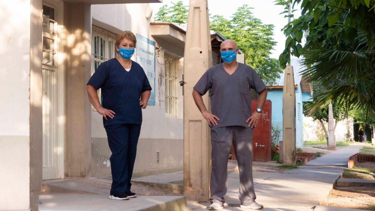 La colaboradora y vecina del Centro de Salud