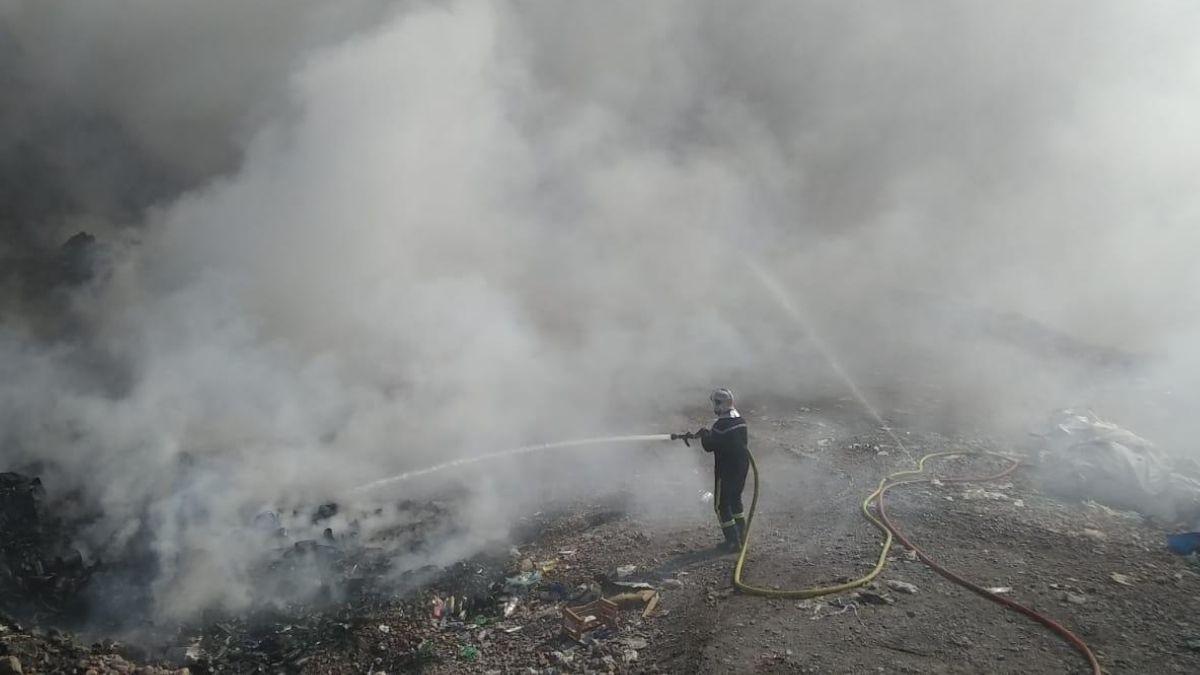 Incendio del basural La Escombrera. Luján de Cuyo.