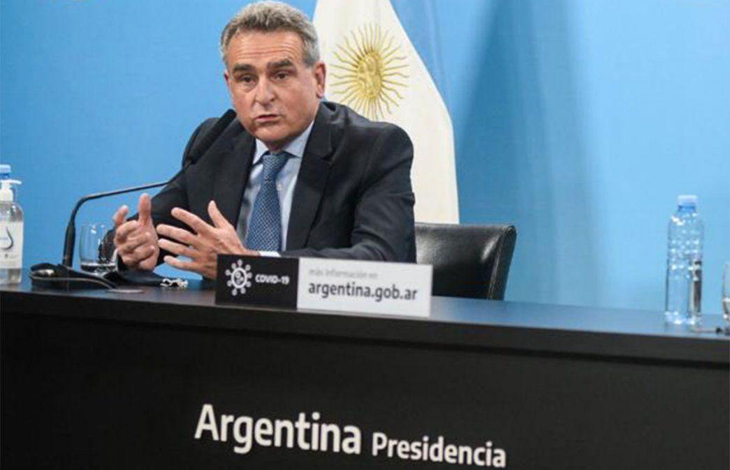 Agustín Rossi respaldó a Alberto Fernández. Foto: NA.