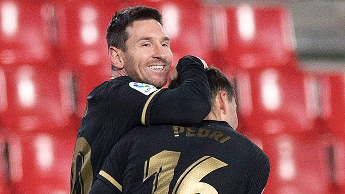 Barcelona, con dos golazos de Messi, goleó a Granada