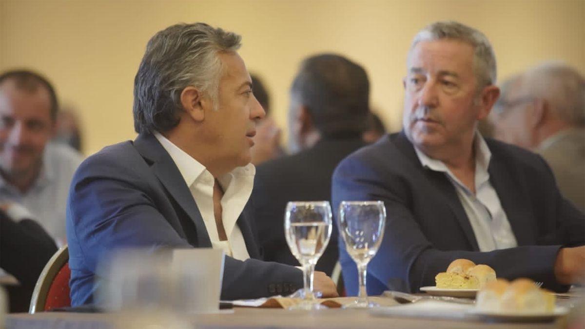 Alfredo Cornejo y Julio Cobos en Malargüe.