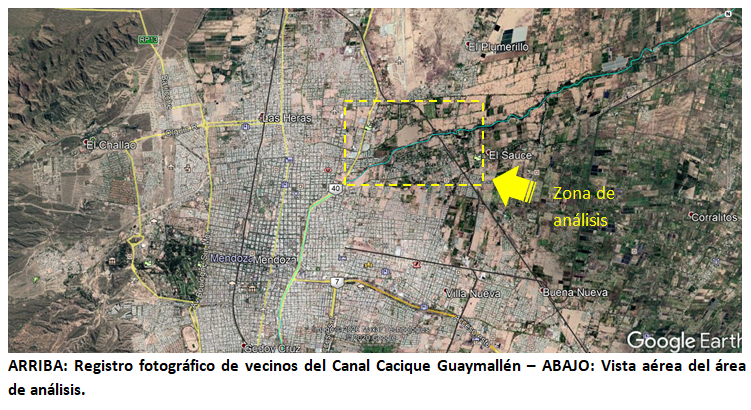 Gran expectativa en El Algarrobal y El Bermejo por un nuevo parque a orillas del Canal Cacique Guaymallén