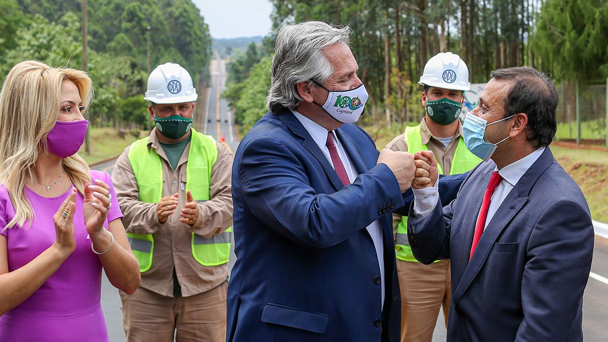 El presidente Alberto Fernández estuvo acompañado por el gobernador provincial