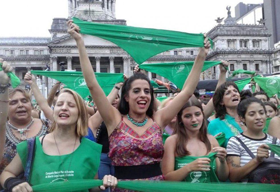 Defensores del aborto legal en el Congreso