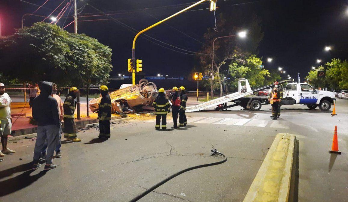 El aparatoso accidente se dio en Maza y Granaderos de Maipú.