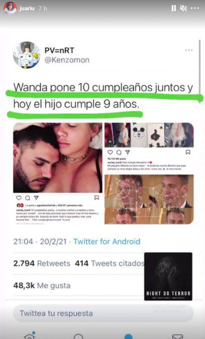 El perturbador tuit sobre Wanda Nara y el cumple de Mauro Icardi