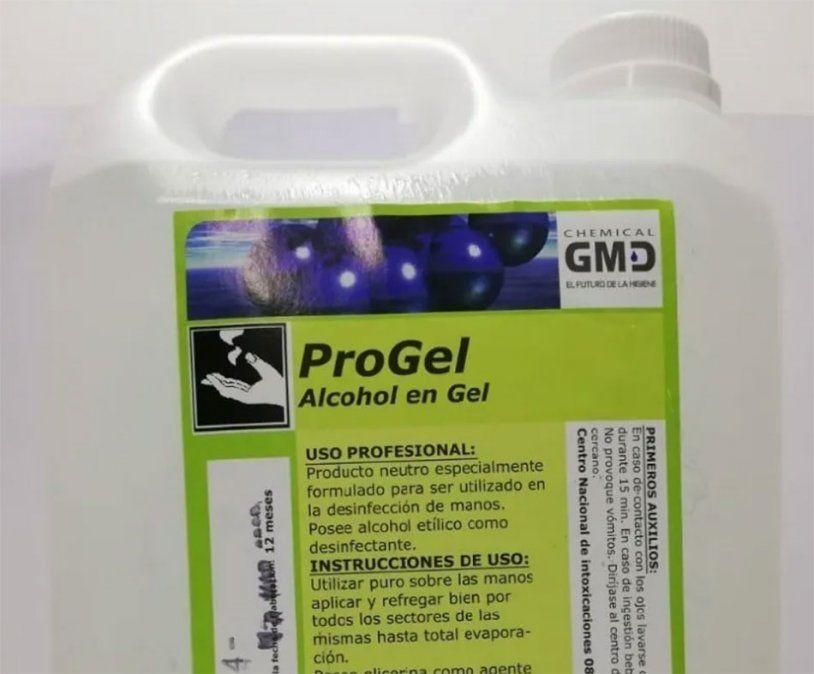 Anmat prohibió el uso y comercialización de un alcohol en gel