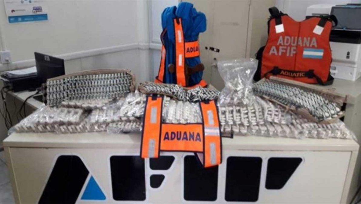 Aduanas (DGA) incautó 14 millones de pesos y mercadería de contrabando durante un operativo de control en la localidad Puerto Pilcomayo (Formosa).