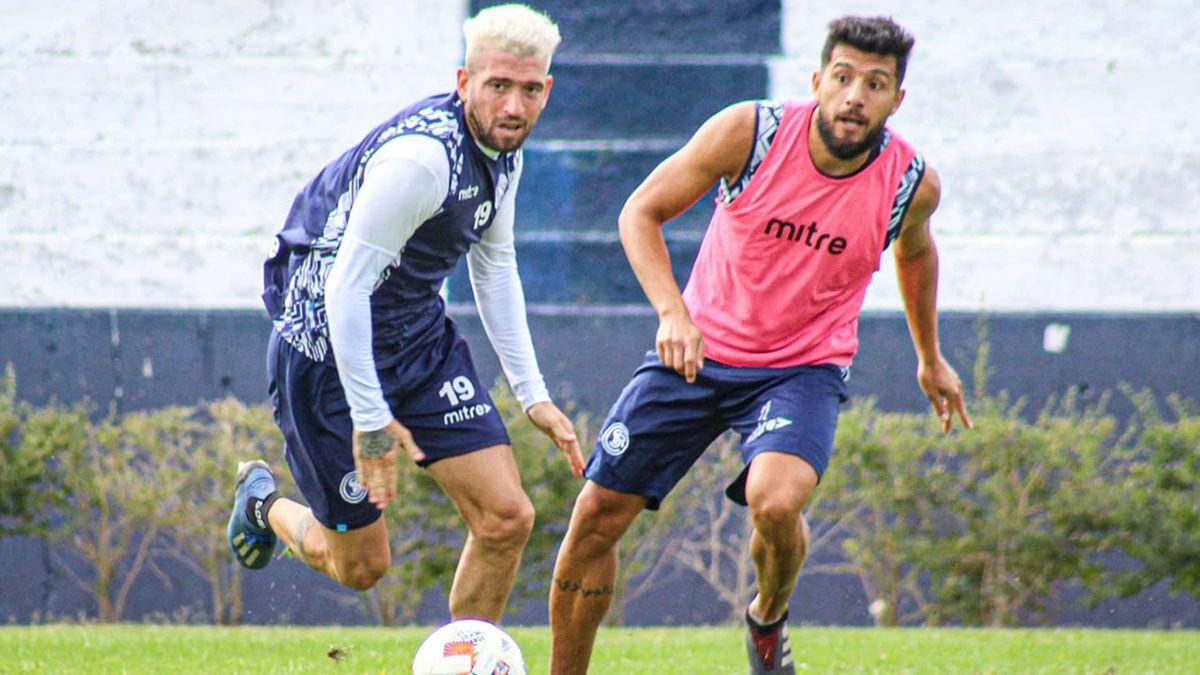 Ramiro Maldonado junto a Navarro. Los dos serán titulares.