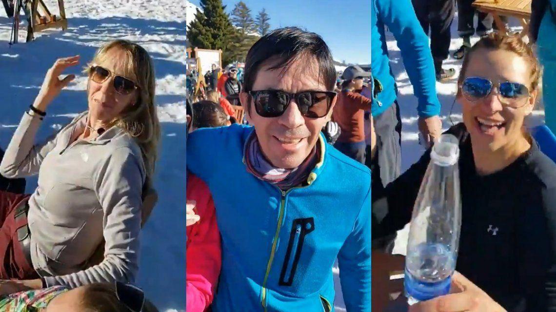 En el cerro Chapelco un grupo de esquiadores violó todas las normas de distanciamiento de la cuarentena.
