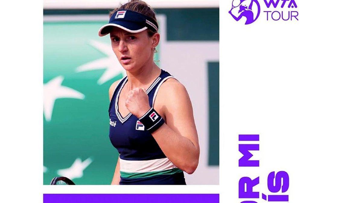 Podoroska forma parte de la nueva imagen de la WTA