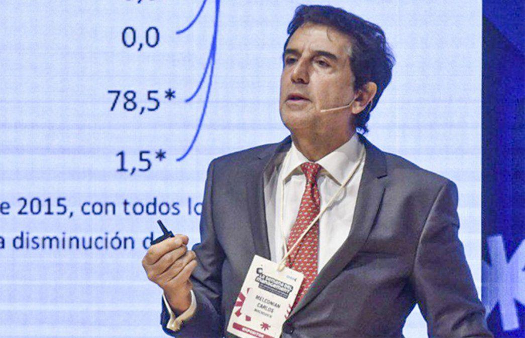 Carlos Melconian estimó este martes que la inflación se ubicará este año entre el 40 y el 50%