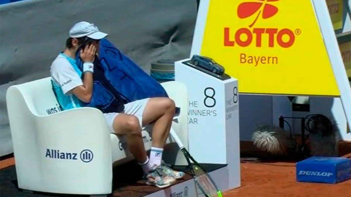 Guido Pella debió abandonar en Múnich por lesión