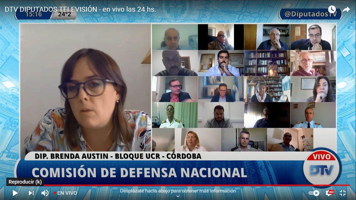 Debate en Diputados la comisión de Defensa Nacional.