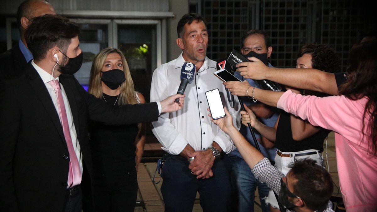 Conferencia de prensa de los fiscales Fernando Guzzo y Claudia Ríos y el jefe de Policía