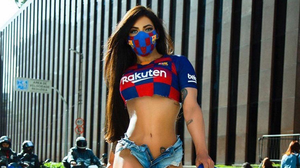 Susy Cortez le mostró toda su lealtad a Lionel Messi