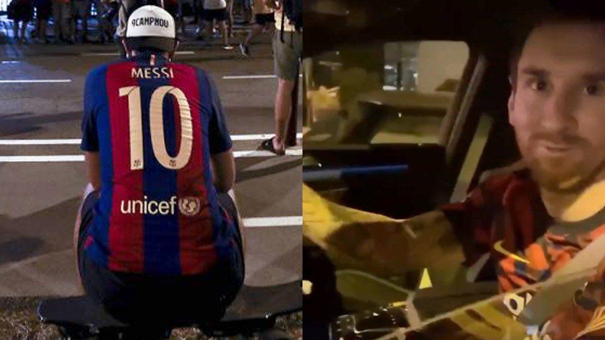 Messi le dio la alegría más grande a un humilde hincha