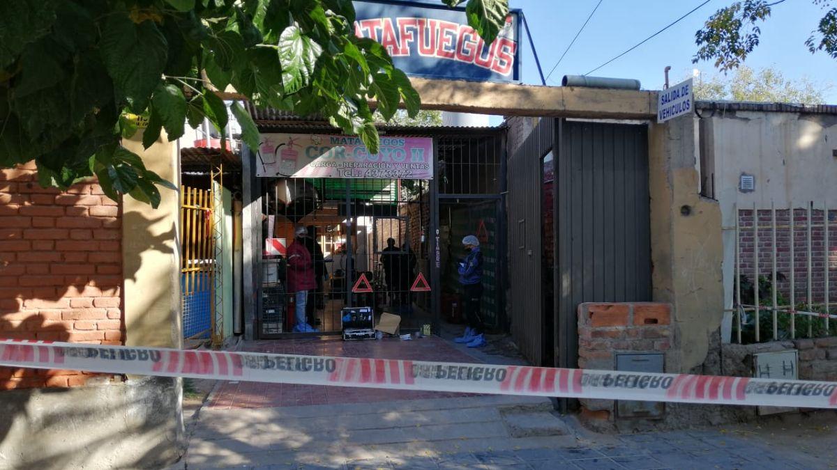El local de Juan Carlos Córdoba, donde ocurrió el crimen en Las Heras.