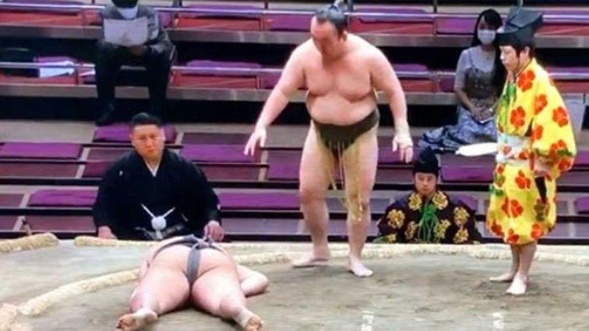 Un luchador de sumo y un golpe que le costó la vida