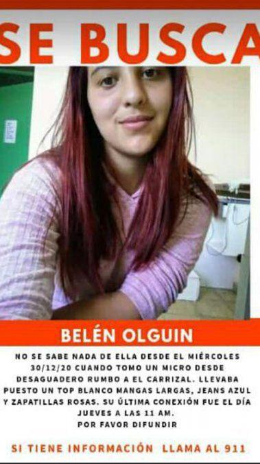 Belén Olguín es una joven que salió de su casa