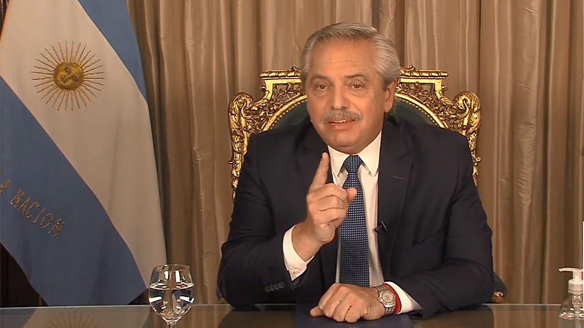 Sorpresivamente Alberto Fernández dio una cadena nacional.