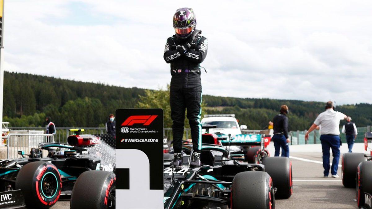 Hamilton hizo su sexta pole de la temporada con récord. y le dedicó su performance al actor estadounidense Chadwick Boseman