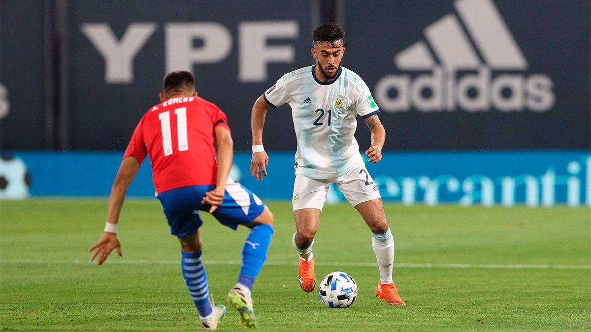 Nicolás González marcó su primer gol oficial con la Argentina