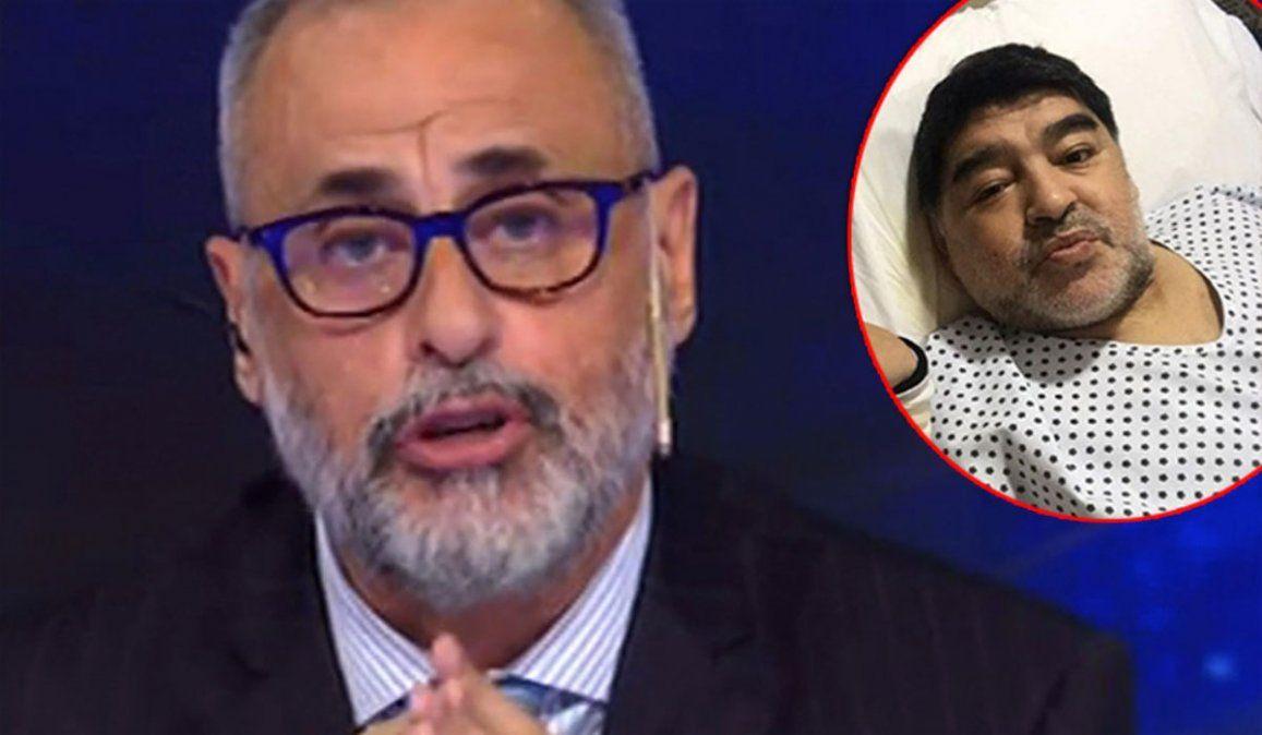 Fuerte frase de Rial tras la muerte de Maradona: Empiezan todos a cuidarse el culo