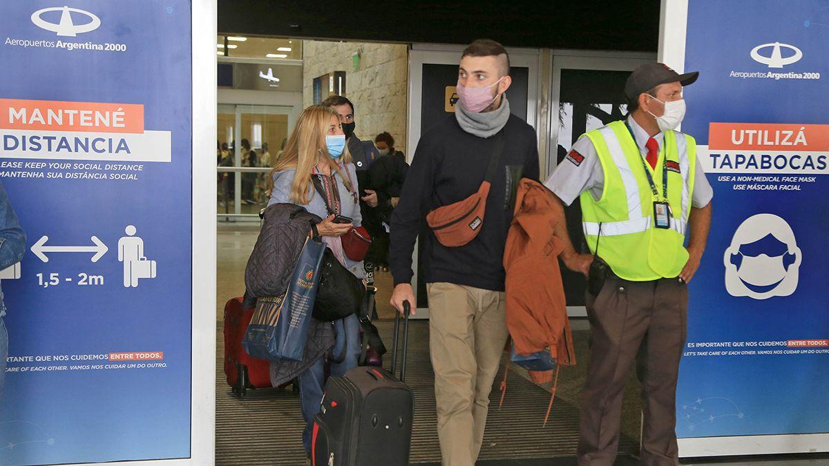 los pasajeros provenientes de vuelos de Chile