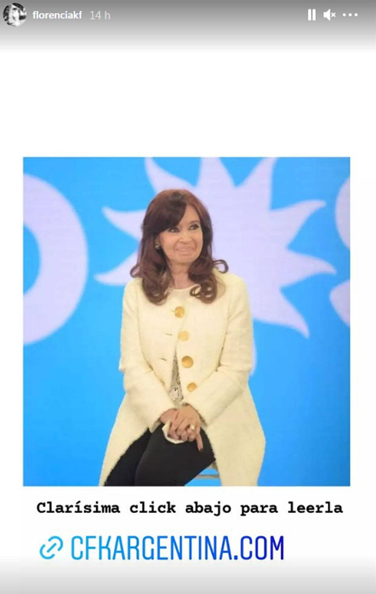 El posteo de Florencia Kirchner para su madre, Cristina Kirchner
